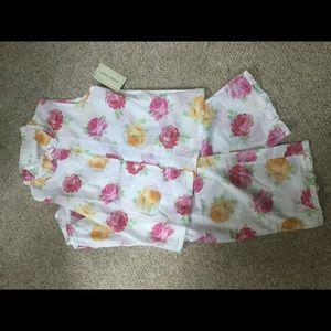 Laura Ashley sleeveless cotton PJ's NWT- S